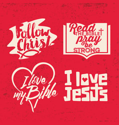 A set of christian lettering vector