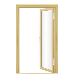 an open wood door vector image vector image