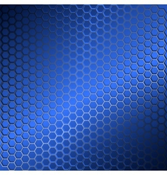 Background with metal grid of hexagons vector