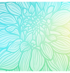 Background with single flower vector