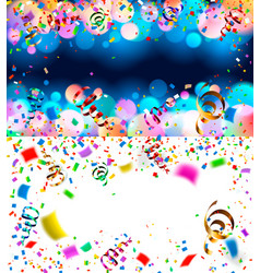 backgrounds with confetti vector image vector image