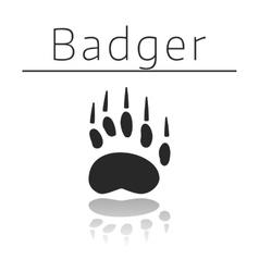 Badger animal track vector