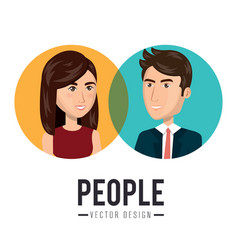 Business people avatar characters icon vector