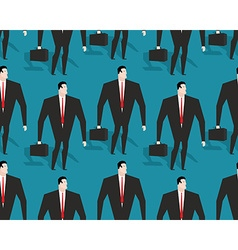 Businessman at work seamless pattern Manager Casey vector image vector image