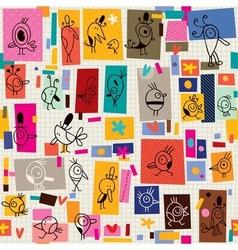 Cartoon birds pattern 2 vector