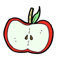 Comic cartoon apple half vector