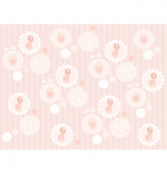cute poodle pattern vector image