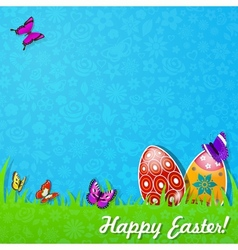 Easter background made of paper vector image