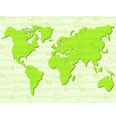 Eco background with map vector image