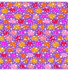 Hand drawn pattern with brush strokes and dots vector