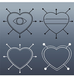 Hipster Heart vector image