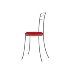 Icon in flat design chair vector