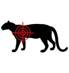 Leopard crosslines vector