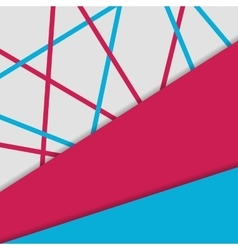 Material design background Geometrical template vector image