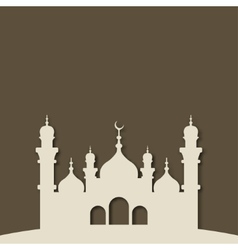 Mosque islamic background vector