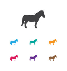 Of animal symbol on horse icon vector