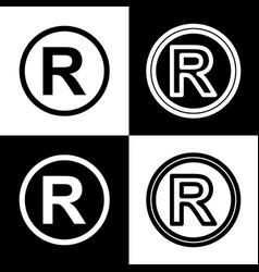 Registered trademark sign black and white vector