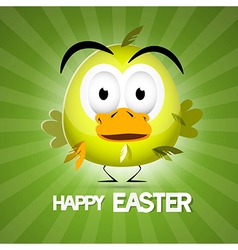 Retro green easter background vector