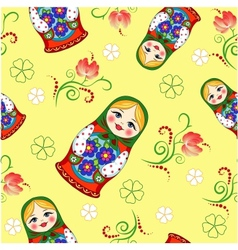 Seamless Russian doll vector image