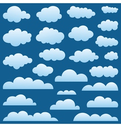 Set a cloud vector image vector image