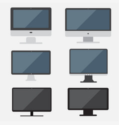 Set of computer computer flat design vector