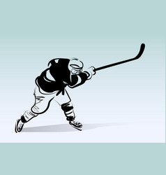 Sketch of hockey player vector