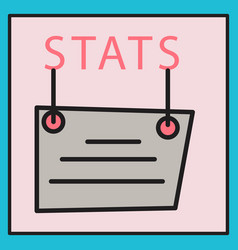 statistics icon infographic chart symbol modern vector image
