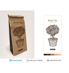 Tea package design vector