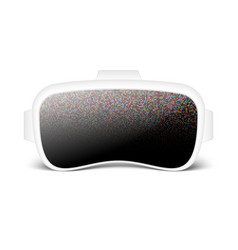 Virtual reality smartglasses or helmet vector