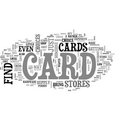 Where to find a card text word cloud concept vector