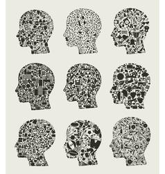 Set a head2 vector image