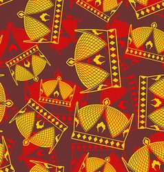 Crown seamless pattern emperor royal texture vector