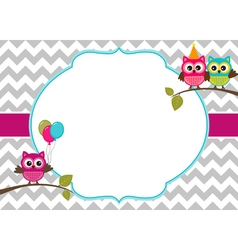Owls Card vector image