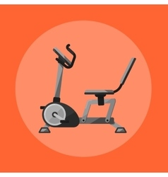 Exercise bike gym sports equipment icon vector