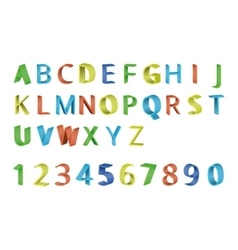 Colorful 3d font vector