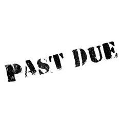 Past due rubber stamp vector
