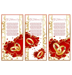 Abstract set frame with hearts vector