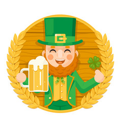 Leprechaun saint patrick day celebration clover vector