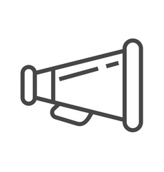 Loud speaker thin line icon vector