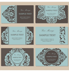 vintage cards set vector image
