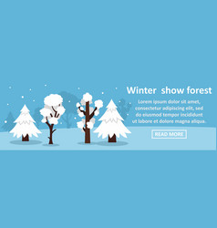 Winter show forest banner horizontal concept vector