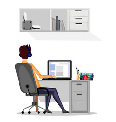 248 guy at work vector image