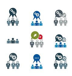 Teamwork and business cooperation theme creative vector