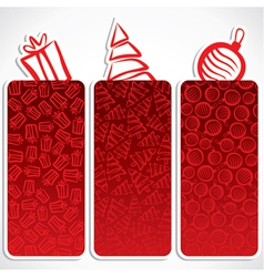 Merry christmas small banner vector