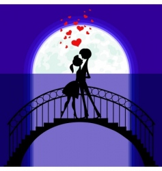 love in moonlight vector image