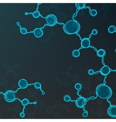 Futuristic dna abstract molecule vector