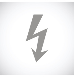 Lightning black icon vector