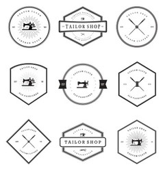Vintage tailor shop badges vector