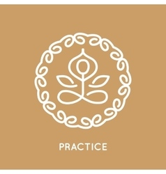 Yoga logo template vector