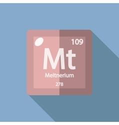 Chemical element meitnerium flat vector